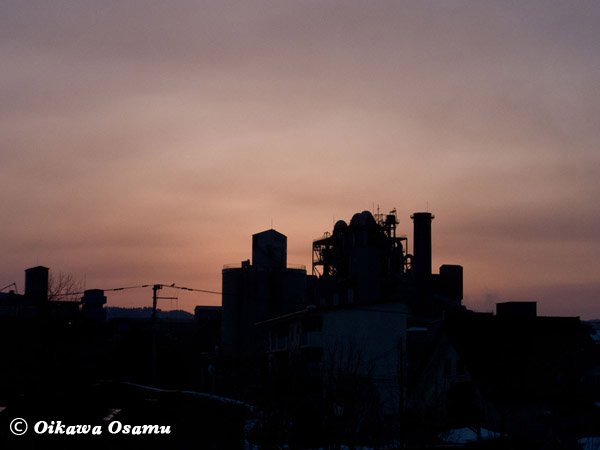 北斗市 太平洋セメント工場夕景