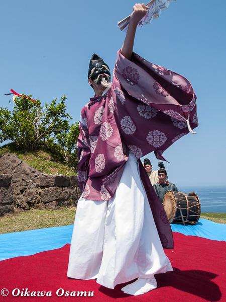 夷王山神社 神楽舞 三番叟