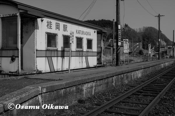 北海道 旧江差線 上ノ国町 桂岡駅
