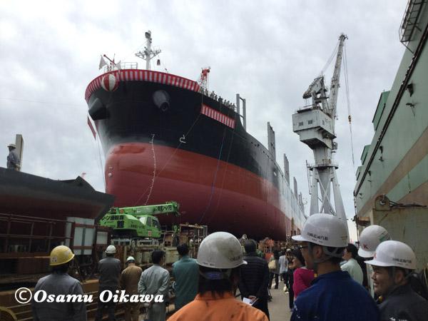 函館どつく 進水式 2017
