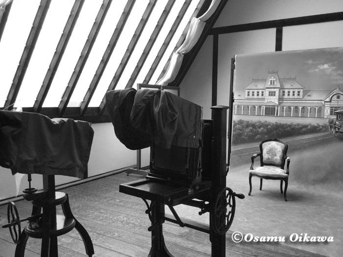 北海道開拓の村 旧広瀬写真館 モノクロ